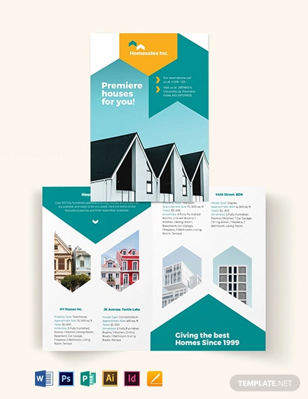 House For Sale Bi-Fold Brochure Template