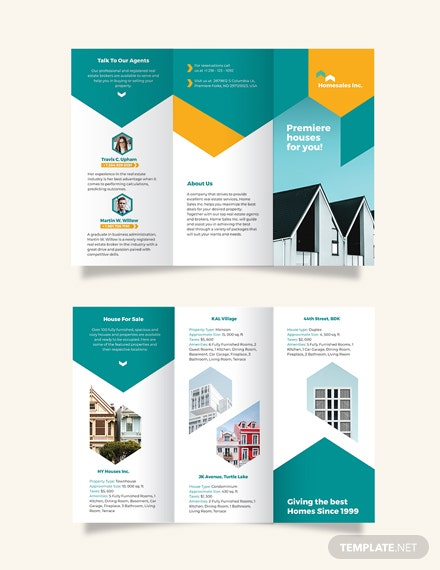 House For Sale Tri-Fold Brochure Template