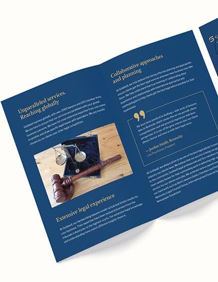 Law Firm Marketing BiFold Brochure Download