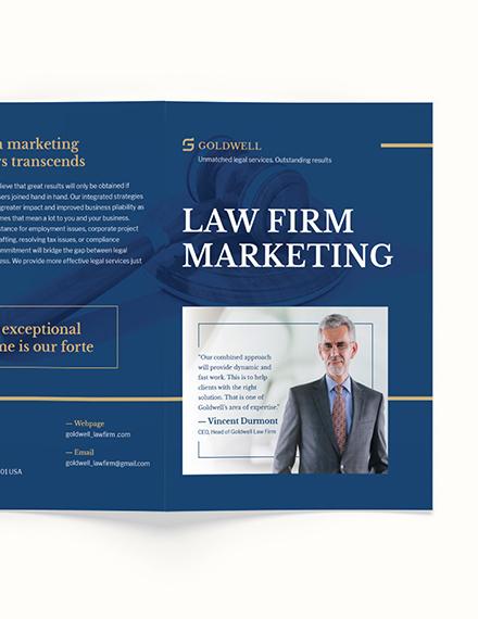 Sample Law Firm Marketing BiFold Brochure