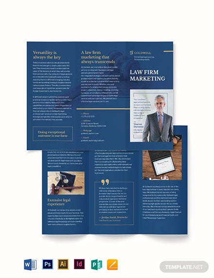 Law Firm Marketing Tri-Fold Brochure Template