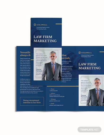 Sample Law Firm Marketing TriFold Brochure