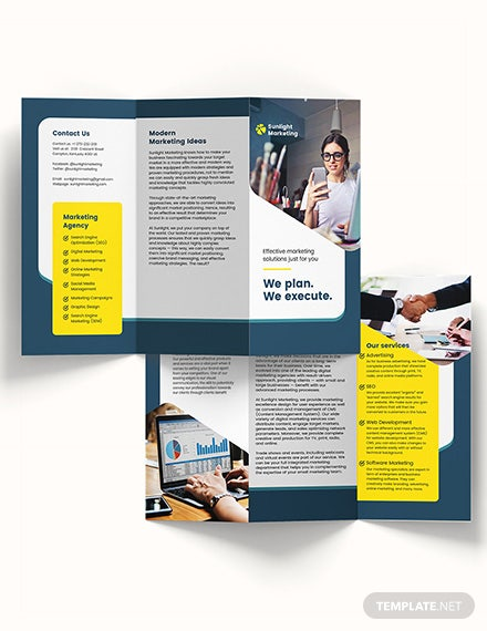 Marketing Business TriFold Brochure Template Download