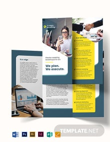 Marketing Business Tri-Fold Brochure Template