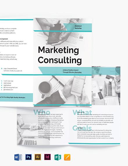 Marketing Consultant Bi-Fold Brochure Template