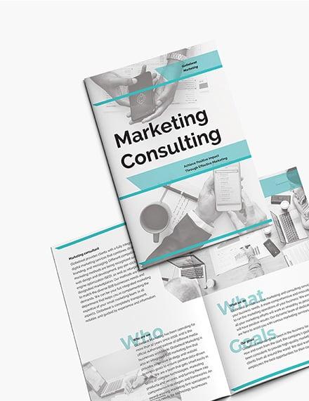 Sample Marketing Consultant BiFold Brochure