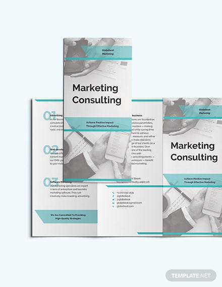 Marketing Consultant TriFold Brochure Download