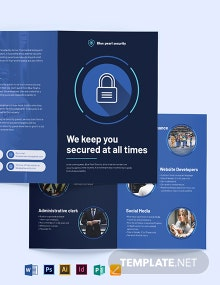 Security Company Bi-Fold Brochure Template