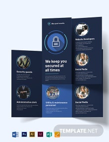 Security Company Tri-Fold Brochure Template