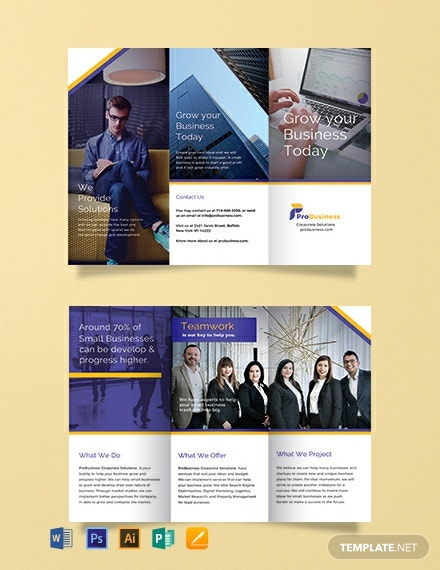 Free Corporate Business Brochure Template