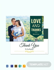 Free Personalized Thank You Card Template