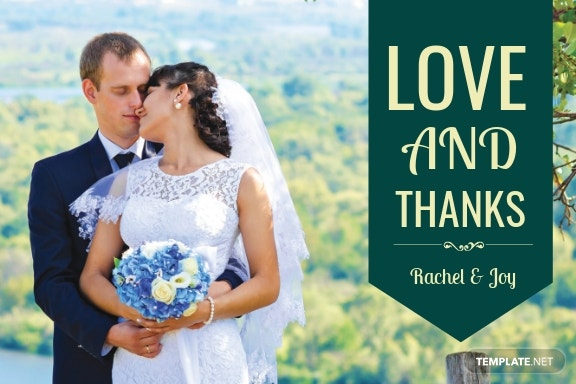 Personalized Thank You Card Template