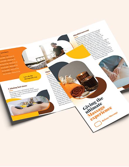 Sample Massage TriFold Brochure