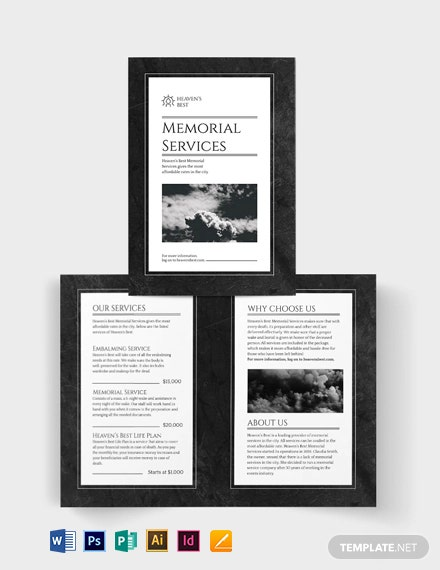 Memorial Bi-Fold Brochure Template