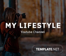 Free YouTube Channel Art for Lifestyle Template