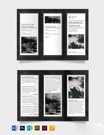 Memorial Tri-Fold Brochure Template
