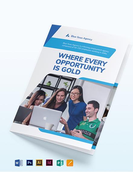 Employment Agency Bi-Fold Brochure Template