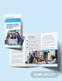 Employment Agency Tri-Fold Brochure Template