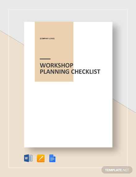 Sample Workshop Planning Checklist