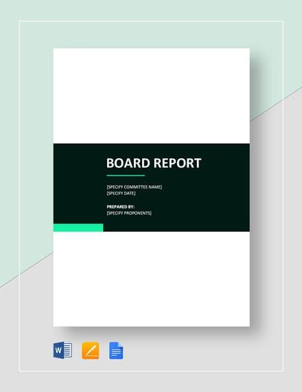 Basic Board Report Template