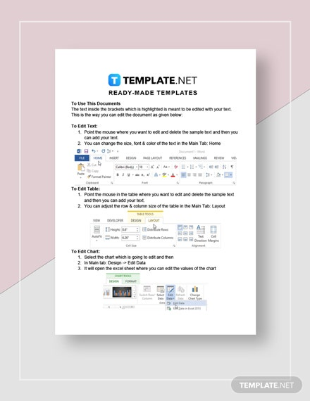 Sample Budget Report Instructions