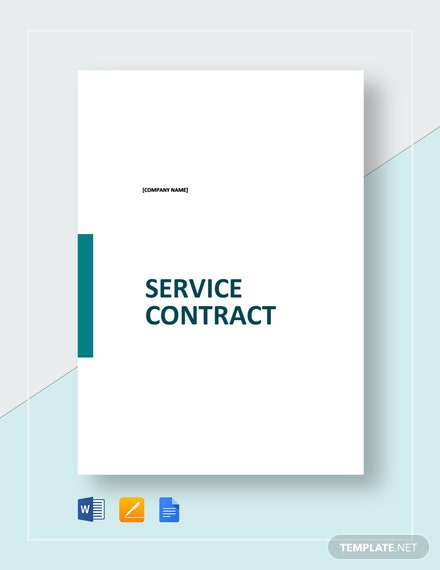 Simple Service Contract Template