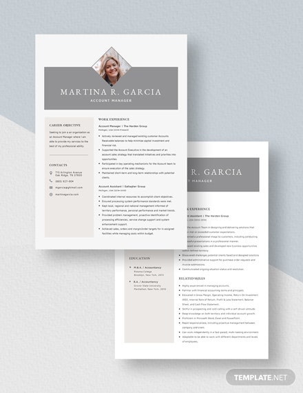 Account Manager Resume Download