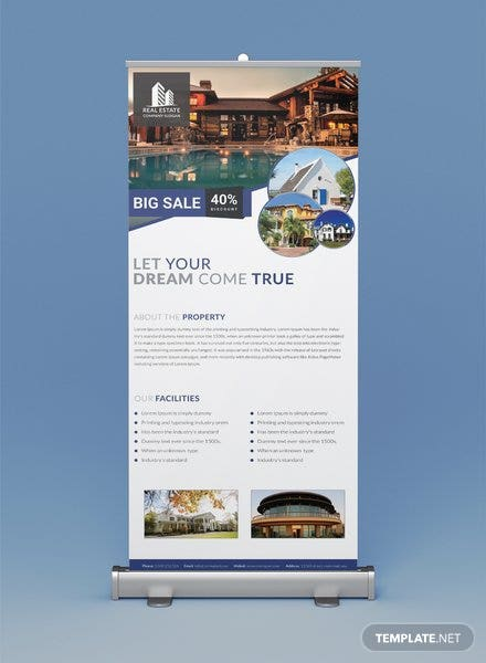 Free Real Estate Roll Up Banner Template