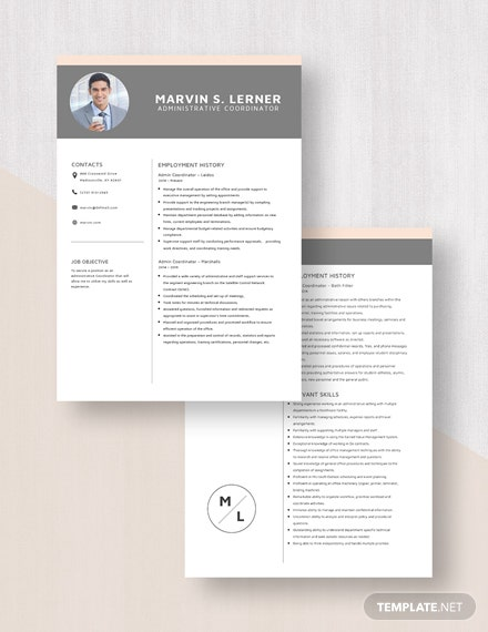Admin Coordinator Resume Download