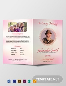 Catholic Funeral Bi-fold Brochure Template