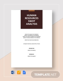 SWOT Analysis for Human Resources Template