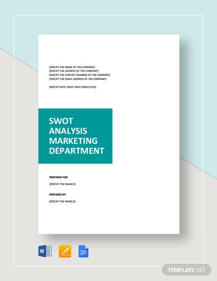 swot analysis for marketing 2