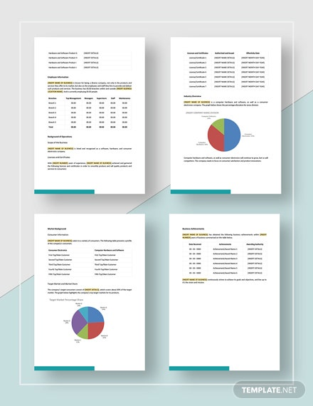 Basic Simple Information Report Template
