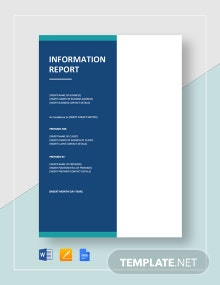 Simple Information Report Template