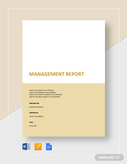 management report to board of directors