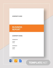 Business Report Sample Template
