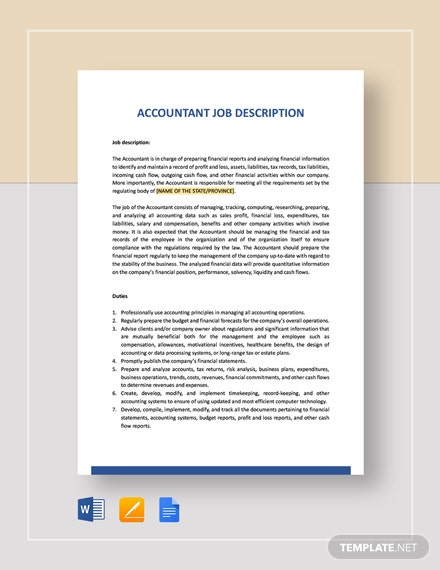 General Accountant Job Description Template