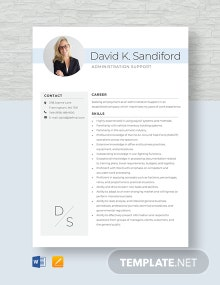 Administration Support Resume Template