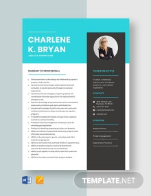 Aquatic Supervisor Resume Template