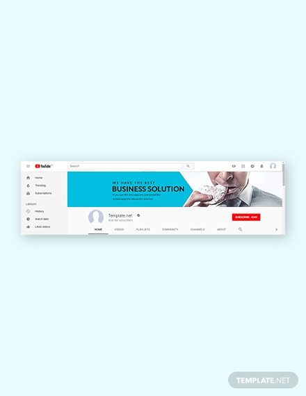 Free Business YouTube Channel Template