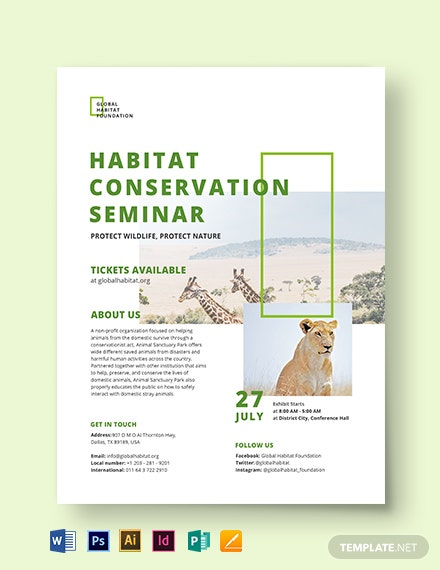 Conservation Flyer Template