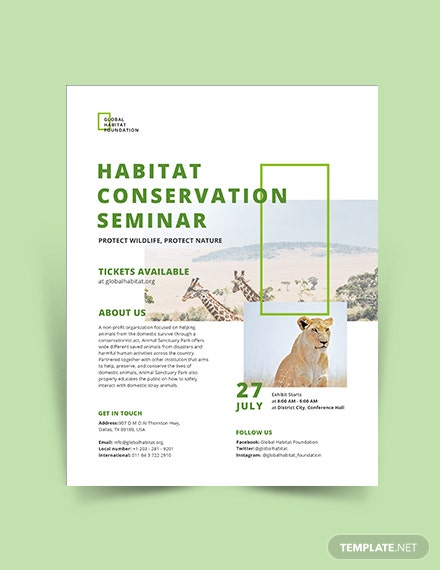 conservation flyer