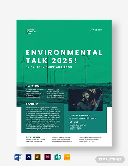Environmental Conservation Flyer Template