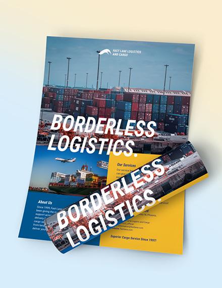 Logistics Company Flyer Download