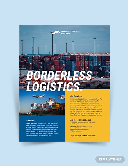 logistics company flyer
