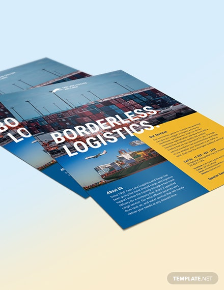 Sample Logistics Company Flyer