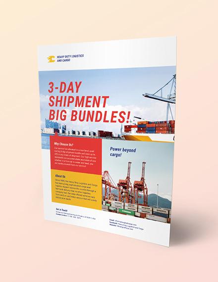 Logistics Flyer Download