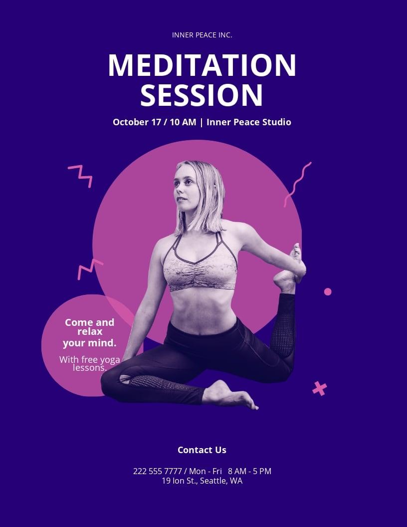 Meditation Flyer Template