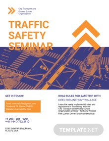 Traffic Safety Flyer Template