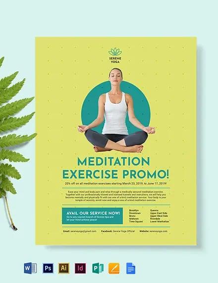 Yoga Meditation Flyer Template